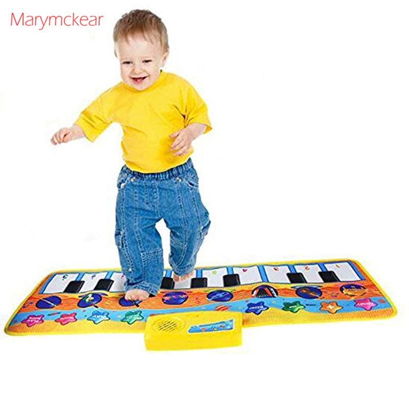 80x28CM Baby Music Piano Play Mat Multi-function With Instrument Sound Demo Songs Cloth Musical Carpet Educational Toys For Kids