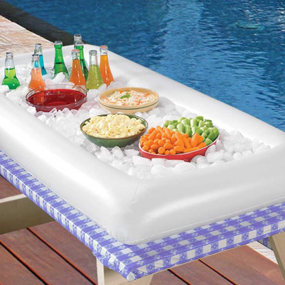 1/2Pcs Inflatable Prasmanan Pesta Minuman Buah Pemegang Salad Melayani Nampan Ice Bar