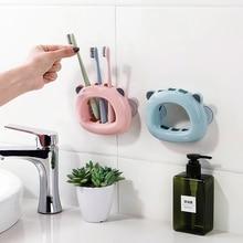 Настенный держатель для зубных щеток, настенный стеллаж для ванной, парная присоска, трубка для зубных щеток, полка для зубных щеток LO7161019