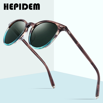HEPIDEM Polarized Sunglasses Classical Brand Designer Gregory Peck Vintage Men Women Round Sun Glasses 100% UV400 5288 9122 2