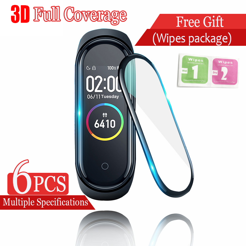 Film For Mi Band 4 Protective Film 3D Surfaces Scratch Proof Screen Film For Xiaomi Mi Band 4 Bracelet Solf HD Film For Mi 4