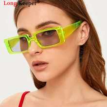 Vintage Green Sunglasses Women 2020 Punk Small Rectangle