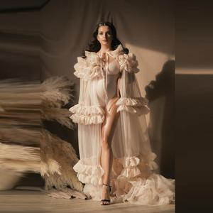 Новое поступление, свадебное платье для беременных, плиссированное длинное женское фатиновое платье для беременных, для вечеринки, выпускн...