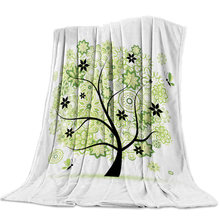 Cute Life Tree Butterfly Mandala Flower Green Bed Cover Blankets Coverlet Flannel Throws Cover Wrap Personalized Fleece(China)