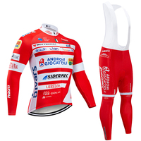 Winter 2020 TEAM ANDRONI long sleeve cycling jersey 20D Pad bike pants suit Ropa Ciclismo mens Thermal fleece pro bicycling wear Maillot Pants clothing