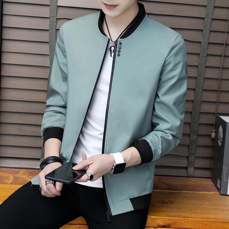 Jackets2020 Spring And Autumn Casual Solid Color Slim Fashion Baseball Jacket Men's Jacket Brand Clothing Jaqueta Masculino M-3X