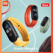 Nowy Xiaomi Mi Band 5 inteligentne opaski na rękę Miband 5 24-godzinne monitorowanie tętna ładowanie magnetyczne 5ATM wodoodporna