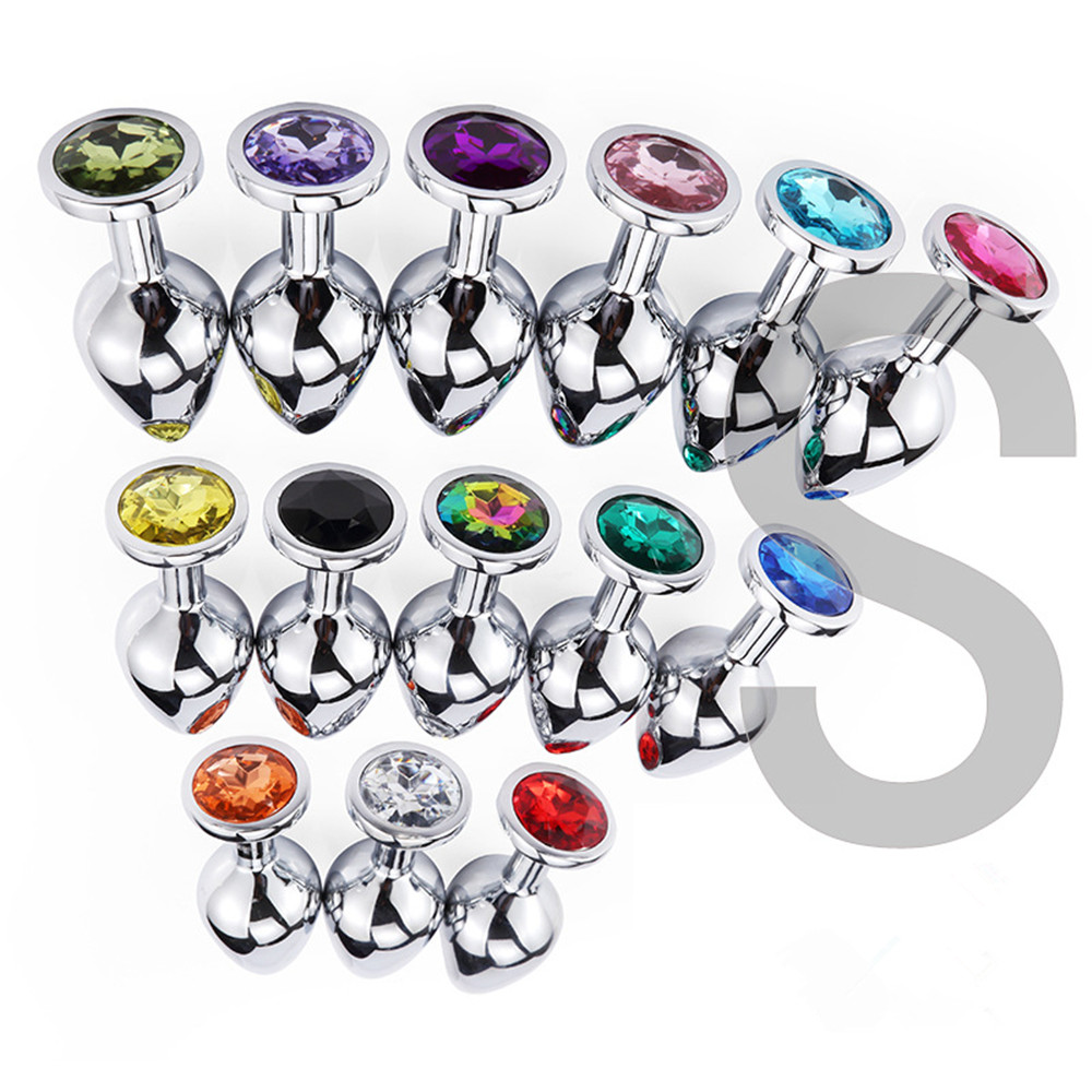 Anal Beads Crystal Jewelry Heart Smooth Butt Plug Stimulator Adult Game Gay Sex Toys Dildo Stainless Steel Anal Plug For Couples