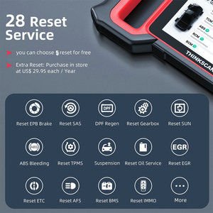 Image 4 - THINKCAR Thinkscan Plus S7 OBD2 Scanner TPMS Oil DPF Throttle Reset Airbag  BCM ECM TCM IC AC ABS System Car Diagnosis Scanner