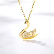 Crystal Swan Necklace Charm For Women Jewelry 2019 Pretty Chain Pendant Collares Couples Bridesmaid Gift