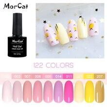 MorCat Nail Gel Polish Lacquer Sweet Art Design UV Soak Off Cherry Pink Series 10ml
