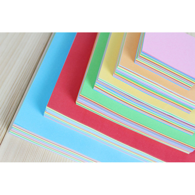 100 sztuk/paczka kwadratowy papier origami podwójne boki jednokolorowy papier pakowy Kid DIY scrapbooking, rzemiosło wystrój papieru sztuki materiał