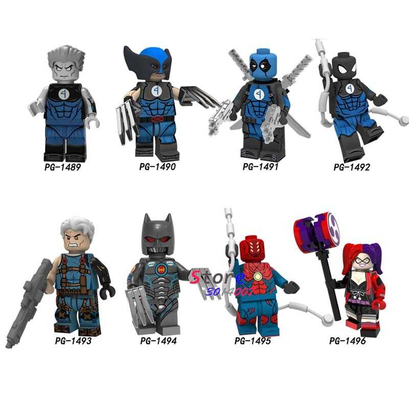 Single Marvel Movie Colossus Wolverine Deadpool Cable Spiderman Spider-Man Venom Far From Home Mysterio building blocks Kids Toy
