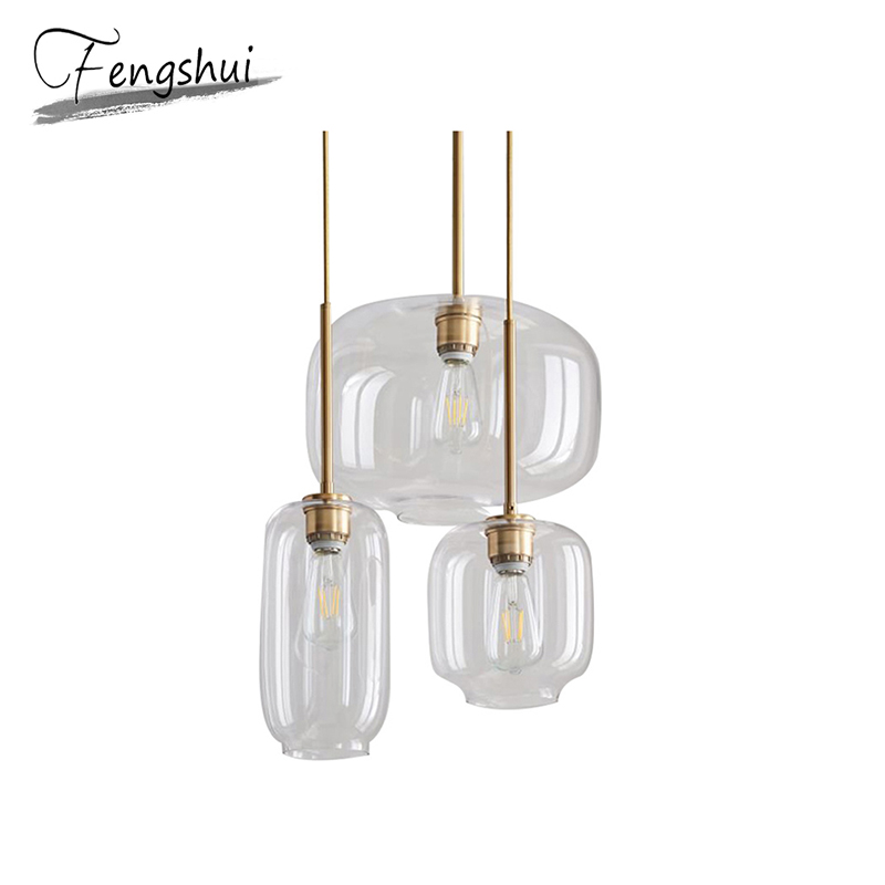 Modern Iron Glass Pendant Lights Lamp LED Pending Lighting Living Room Bedroom Bar Dining Room Hanging Lamp decor Light Fixture|Pendant Lights|   - title=
