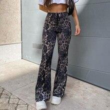 LASPERAL Sweetown Brown Leopard Y2K Joggers pantaloni a vita alta da donna pantaloni a doppio strato in Mesh E Girl pantaloni estetici pantaloni sportivi da donna