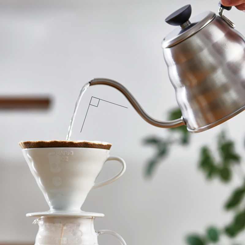 Нержавеющая сталь Hario Кофе капельная гусиная шея чайник Высокое качество бутылка кухонные аксессуары 1Л/1.2л