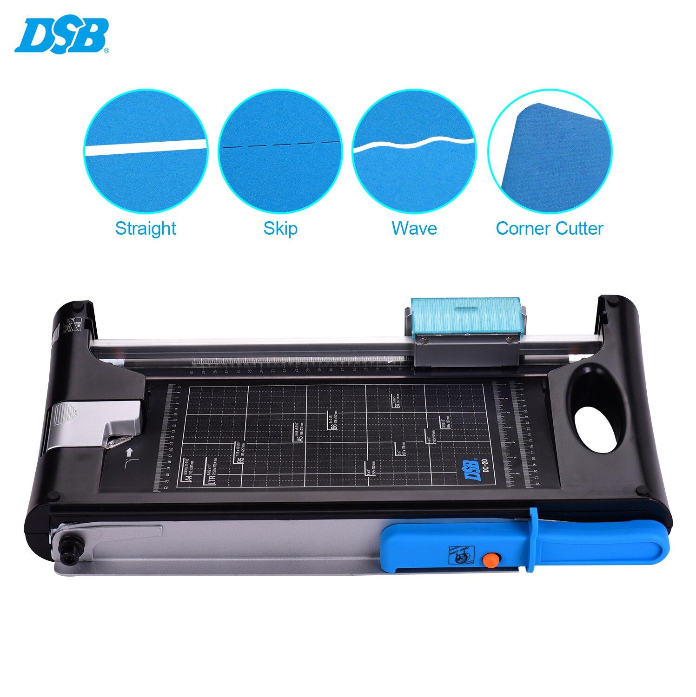 DSB двухсторонний триммер для бумаги многофункциональный A4 резак для фотографий гильотина прямой Скакалка волнистый угловой резак с 13 дюймо...