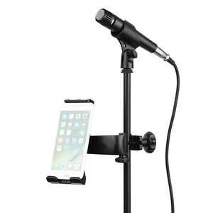 Image 2 - Microphone Stand Cell Phone Holder Microphone Mount Small Stand 360° Car Back Seat Telephone Phone Holder Mic Stand Bracket