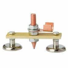 Double Welding Ground Clamp Magnet Head Support Clamp Holder Fixture Welder Sheet Metal Repair Machine Electric Welding Tool