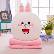 Cartoon Summer Blanket Pillow Rabbit Airable Cover Plush Toys Girl'S Gift Large Amount Can Be Printed Logo