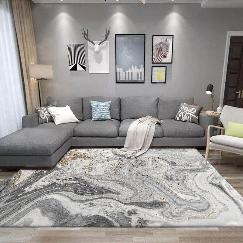 Fashion modern Nordic abstract seawater gilt gray kitchen living room bedroom bedside carpet floor mats