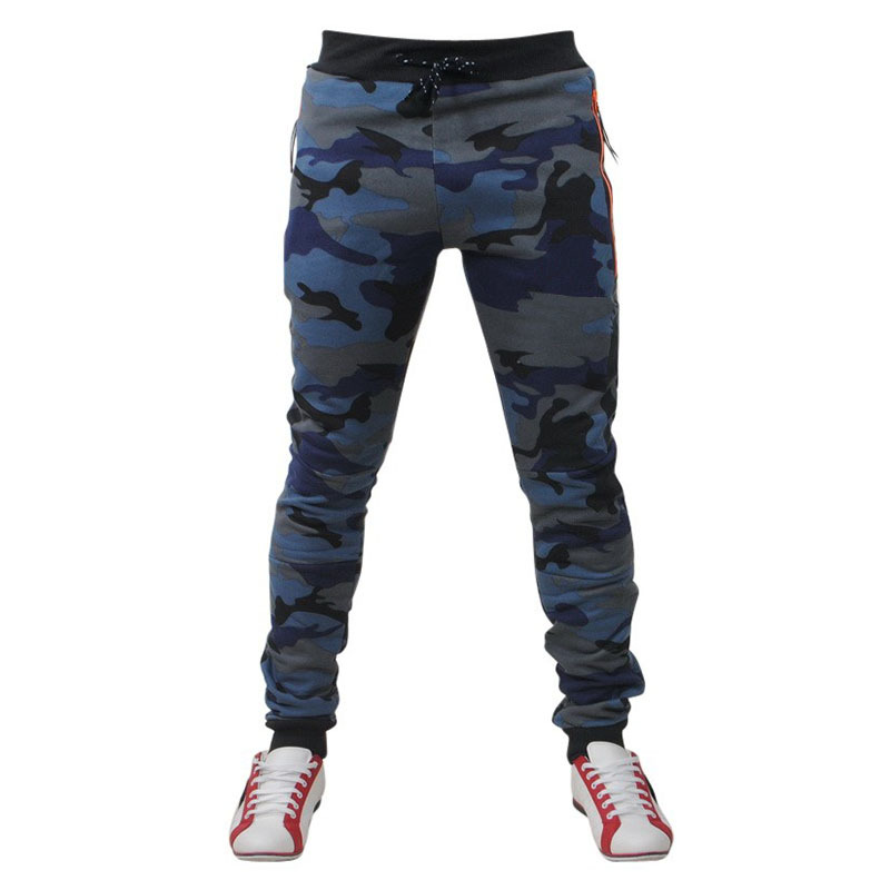 New Style Men'S Wear Ouma Summer Men Camouflage Floral Elasticity Casual Sports Skinny Pants Customizable