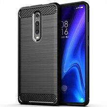 For Xiaomi Redmi K20 Pro Premium Case Brushed Silicone Carbon Fiber Texture Protective Back Cover for Redmi K20 Pro Premium Case
