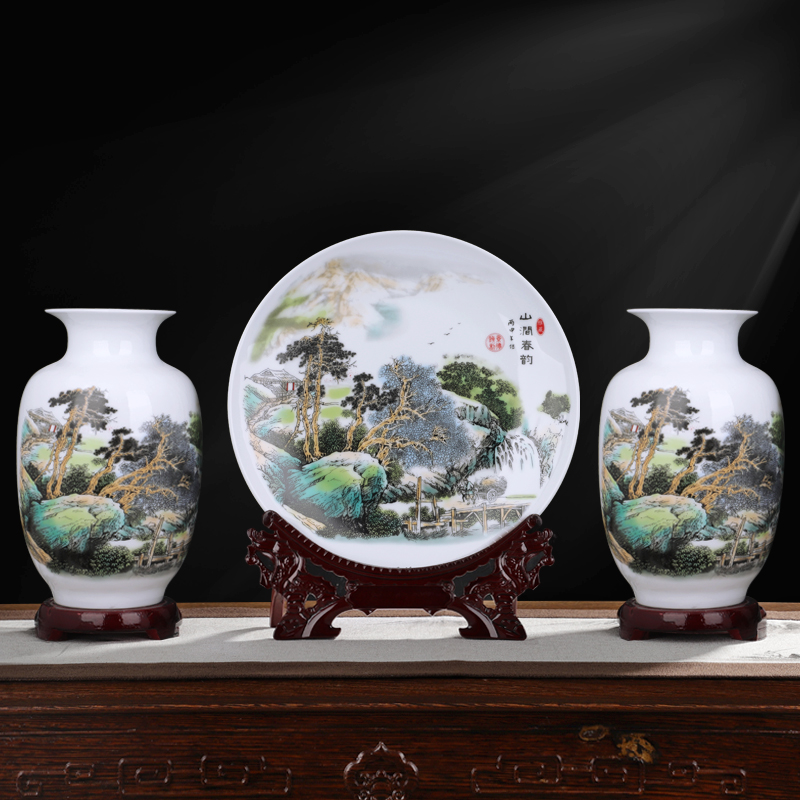 ceramics Vase Decoration Jingdezhen new Chinese style home decoration living room flower arrangement small handicraft