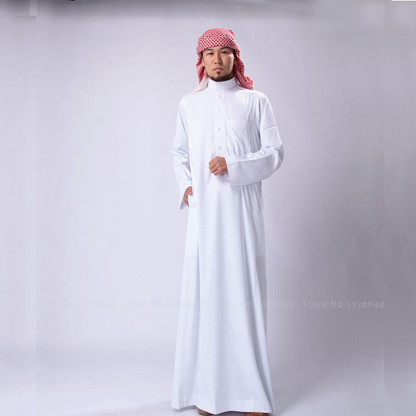 Abaya Saudi Arabia Traditional Man Muslim Long Robes Dress Jubba Thobe Arab Blouse Gown Islamic Clothing Arabic Kaftan Outfits