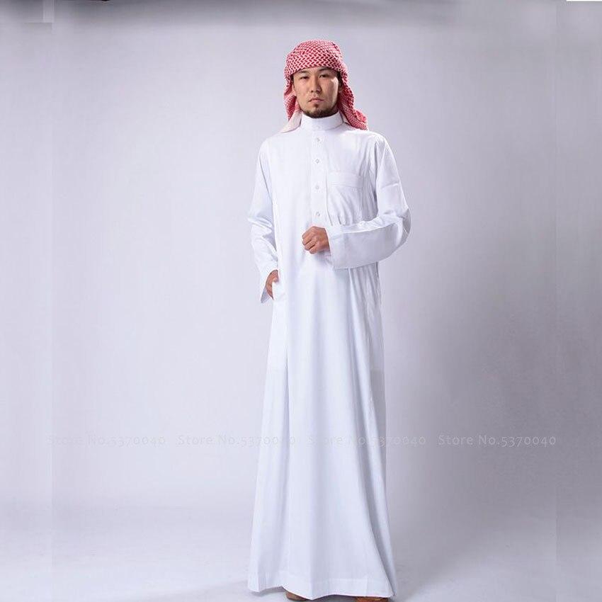 Abaya Saudi Arabia Traditional Man Muslim Long Robes Dress Jubba Thobe Arab Blouse Gown Islamic Clothing Arabic Kaftan Outfits