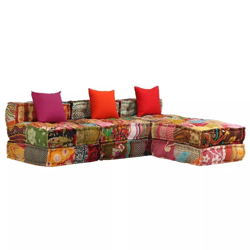 VidaXL 180cm Comfortable Modular Sofa Can Be Combined Sofa With 3 Pillows