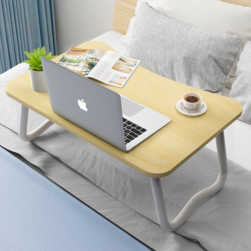 Lit petite table paresseux table chambre lit bureau pliable facile à utiliser chambre ordinateur assis sur la table lit