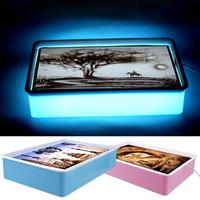 4Pcs/set USB LED Lights Sand Painting Table Doodle Pad Early Educational Learning Drawing Toys for Child Bithday Gifts