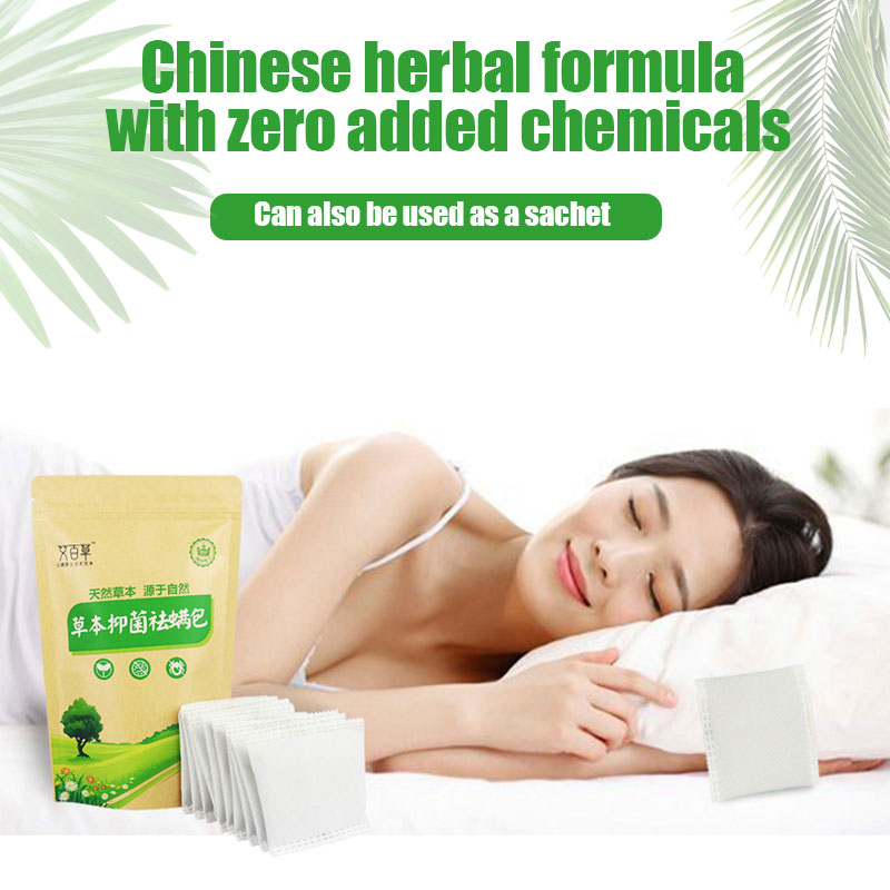 2 Bags Natural Mite Killer Anti-Mite Plant Extract Non-Toxic Herbal Antibacterial Except Bag Bed Bugs Cleaner