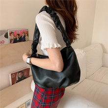 Korean Women handbags Large Capacity Soft PU Leather Totes ladies Hand bag fashion Folds Hobos shoulder bags bolsa feminina