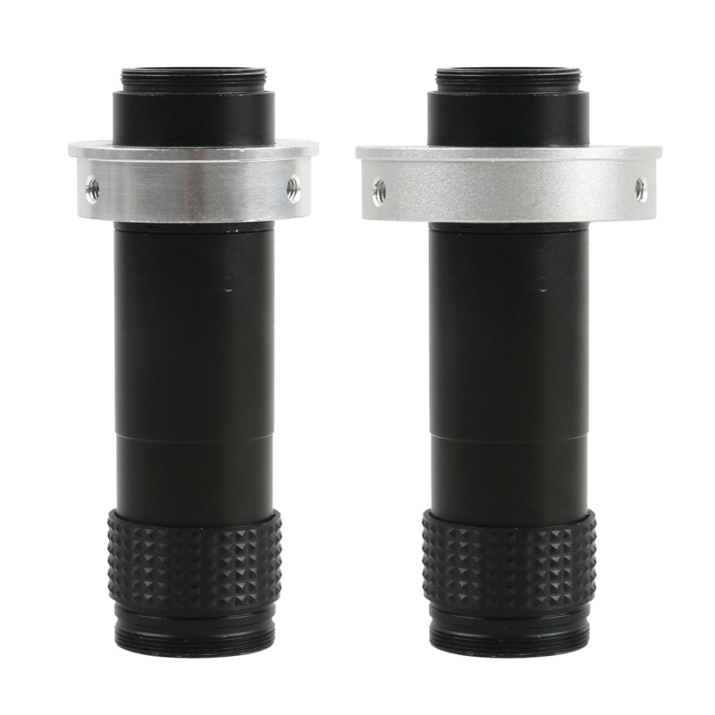 Continuous Zoom High Coverag Distance C-mount Lens 1X - 120X 15 1 For CCD CMOS Industry Industrial Video Microscope Camera Lens