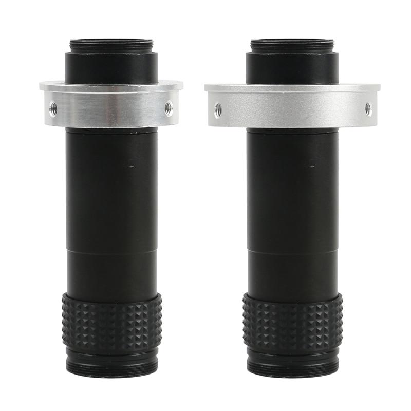 Distância C-montagem Da Lente Zoom contínuo de Alta Coverag 1X-120X15: 1 para Lente Da Câmera CCD CMOS Indústria Microscópio Vídeo Industrial