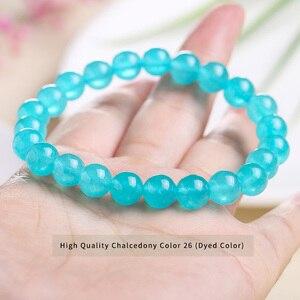 JD 4 6 8 10 12 мм Амазонит синий цвет высокое качество Халцедон Браслет круглые свободные каменные бусины, ювелирные изделия оптом|Плетеные браслеты|   | АлиЭкспресс