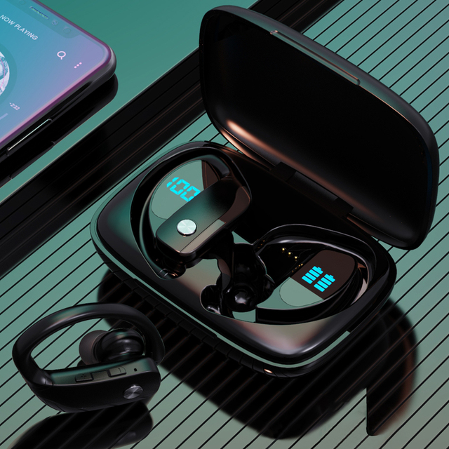 Bluetooth V5.1 Earphones Wireless Headphones With Microphone Sports Waterproof Headsets Charging Box For Android IOS LED Display 1