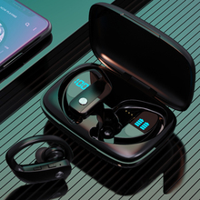 Bluetooth V5.1 наушники беспроводные наушники с микрофоном спортивная водонепроницаемая гарнитура зарядная коробка для Android IOS светодиодный дисп...