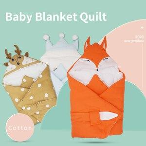 Image 1 - Baby Decke Quilt Decke Für Entladung Neugeborenen Baby Swaddle Wrap Nette Cartoon Form 100% Baumwolle 80*80Cm Bettwäsche wagen Sack