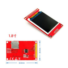 1.77 1.8 inch TFT LCD Module LCD Screen SPI serial 51 drivers 4 IO driver TFT Resolution 128*160 1.8 inch TFT interface