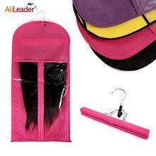 Alileader розовый черный мешок для волос с держателем для хранения париков для шиньонов нетканые прозрачные Аксессуары для париков сумка для хр...
