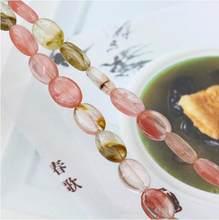 Tourmaline pastèque multicolore pour femmes, perles ovales, 10x14mm, 15 pouces, bijoux en vrac pour bricolage