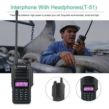 Baofeng UV-9R Walkie Talkie With Earphone Lightweight Sound Loud Full Manual Operation Large Capacity Channel Storage Rich