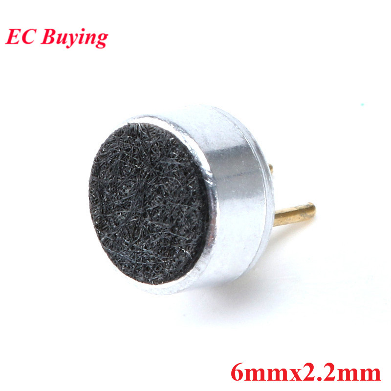 10PCS Capacitive Electret Microphone 6*2.2mm with pin Sensitivity 6X2.2MM