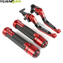 Motorcycle Extendable Brake Clutch Levers Handlebar Hand Grips ends For KYMCO XCITING 250 300 500 400 DOWNTOWN 125/200/300/350