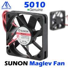 Mellow 12v/24v sunon 3d impressora pequena suspensão magnética de refrigeração rolamento 5010 dc ventilador de refrigeração extrusora hotend