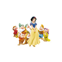 1Pcs Snow White and the Seven Dwarfs Iron-On patches for clothes DIY Girl's T-shirt clothing patches Thermal transfer sticker(China)