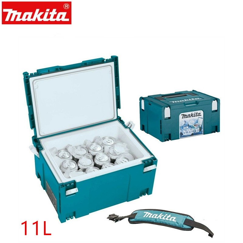 Makita MAKPAC Cool Box Connector Tool Case Systainer 198254-2 Type 3 11 Litres + Strap